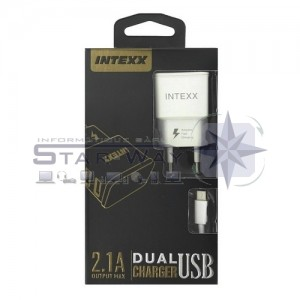 Intexx Chargeur 2in1 Type-C 2.1A