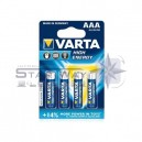 Piles pack de 4 Varta High Energy (AAA)
