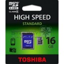 Micro SD Toshiba high speed 16GB