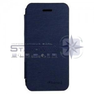 Coque flip iPhone 5/5s bleu